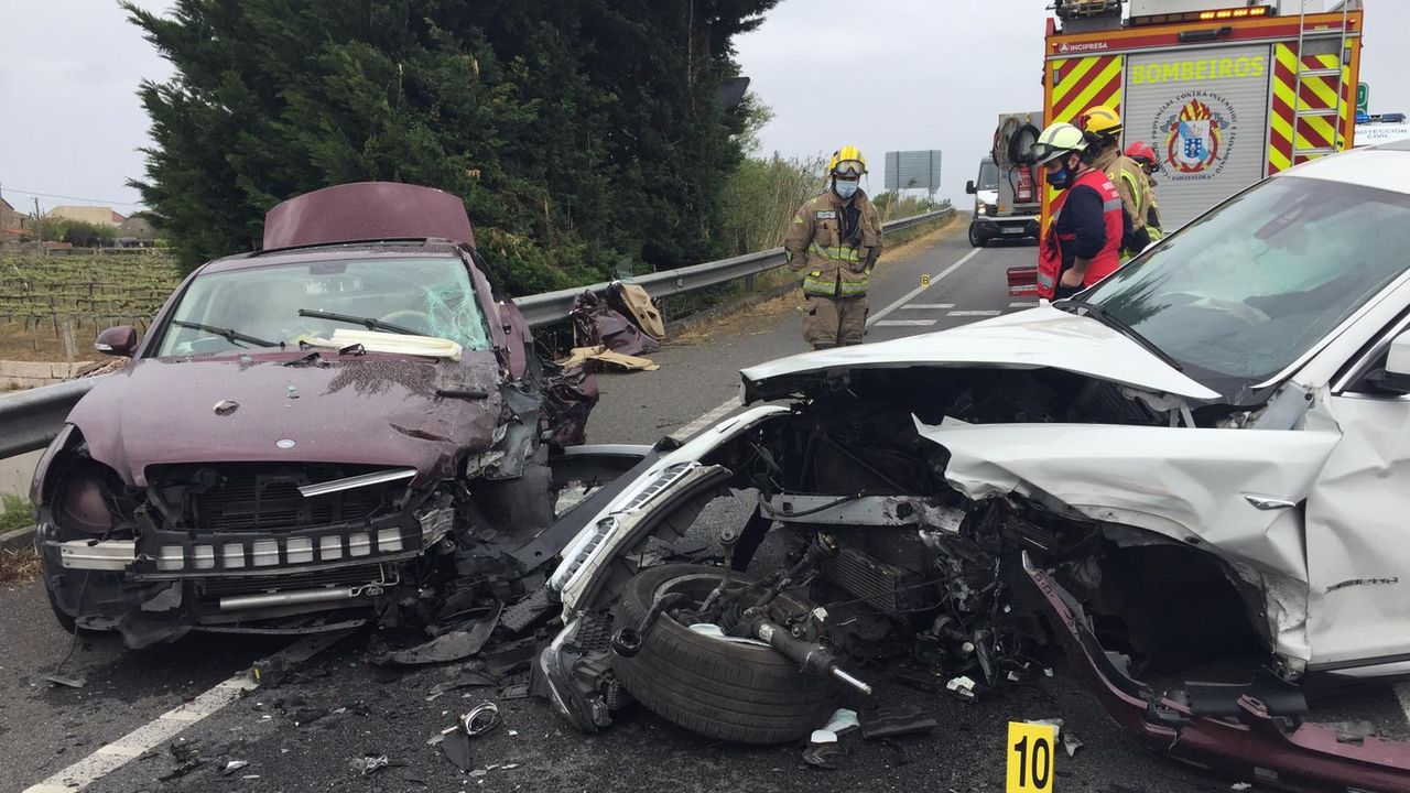 Accidente de tráfico en Cambados