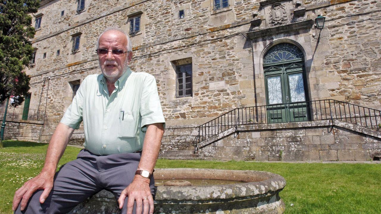 Alejandro Díaz, propietario del Grupo Baldajos.El historiador Xosé Estévez