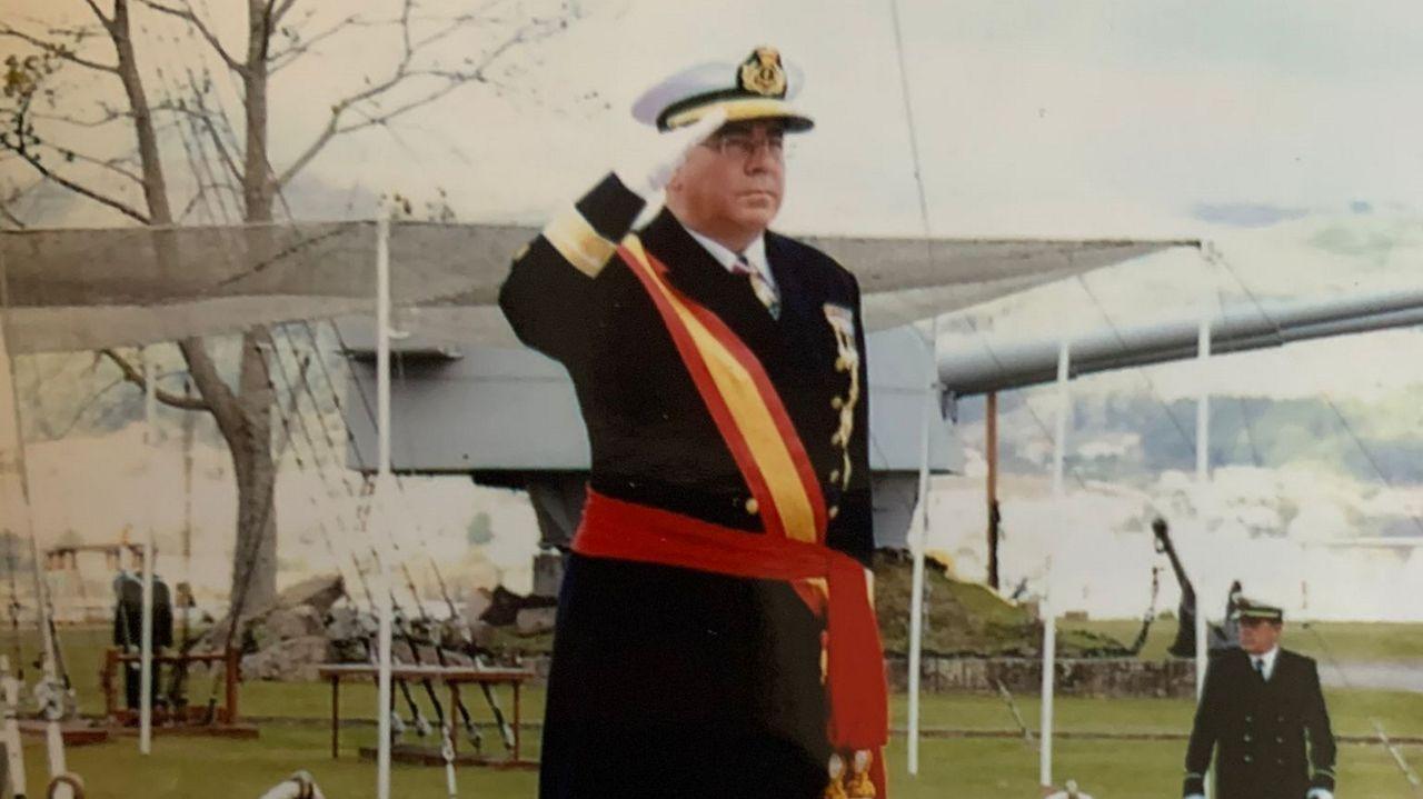Domingo de Ramos en Barbanza.Francisco Busto Salgado, general de división del Cuerpo de Intendencia de la Armada