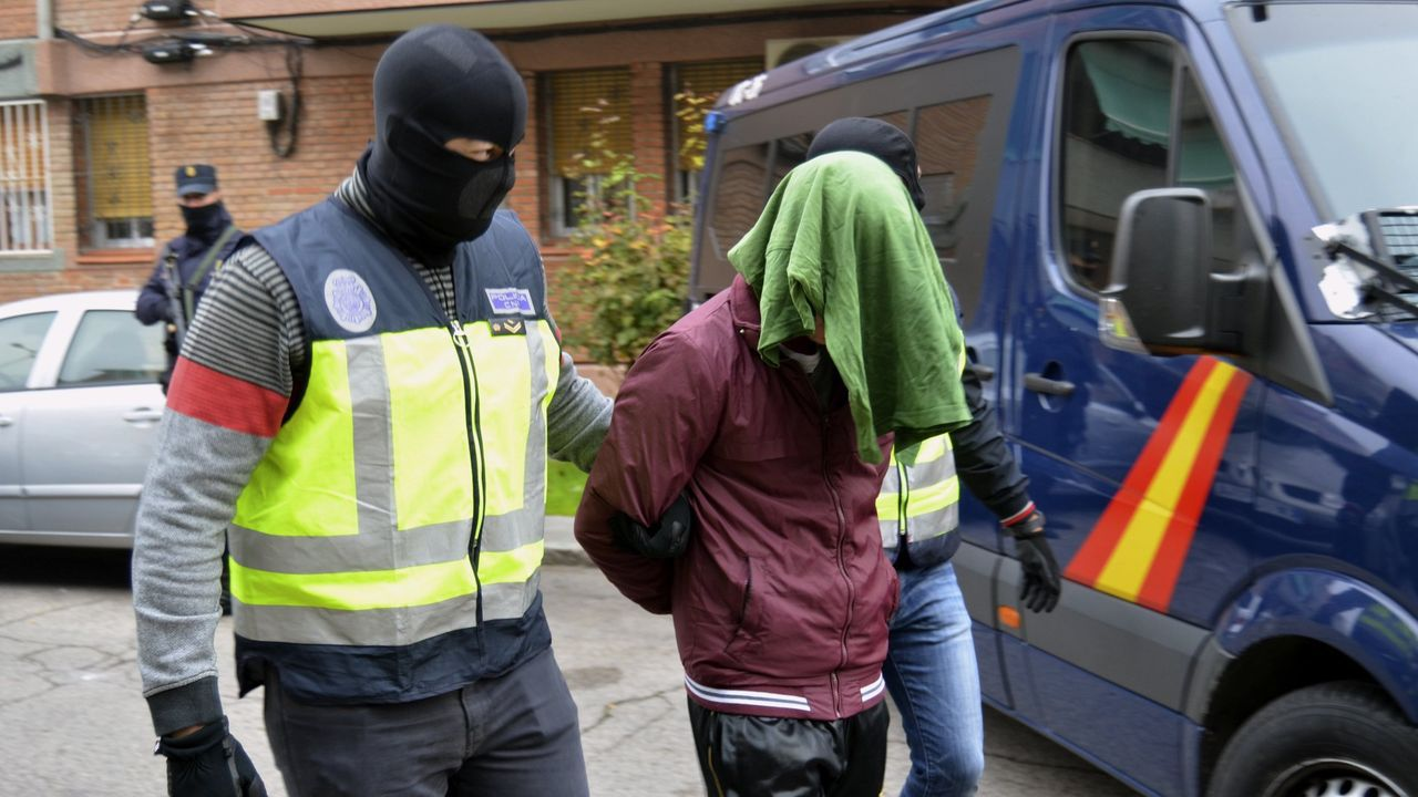 Imagen de archivo de la detención de una operación contra el yihadismo desarrollada en Madrid