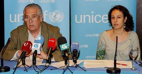 Manuel Sánchez e Irene Marín explicaron la realidad de millones de niños en el mundo.