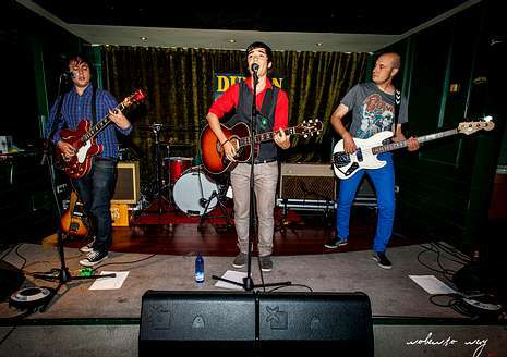 Día de San Xiao en Ferrol.Un momento de la actuación del grupo The Twin-Sets.