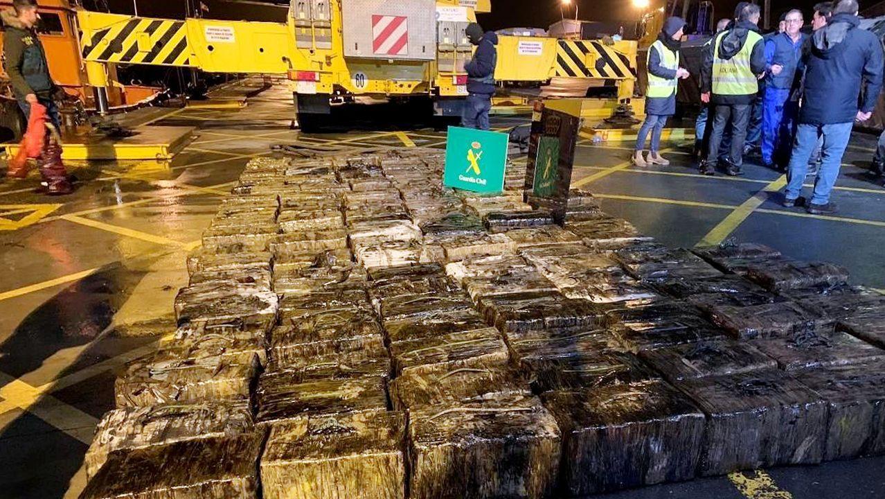 Los 153 fardos pesaron 3.050 kilos tras retirar los envoltorios
