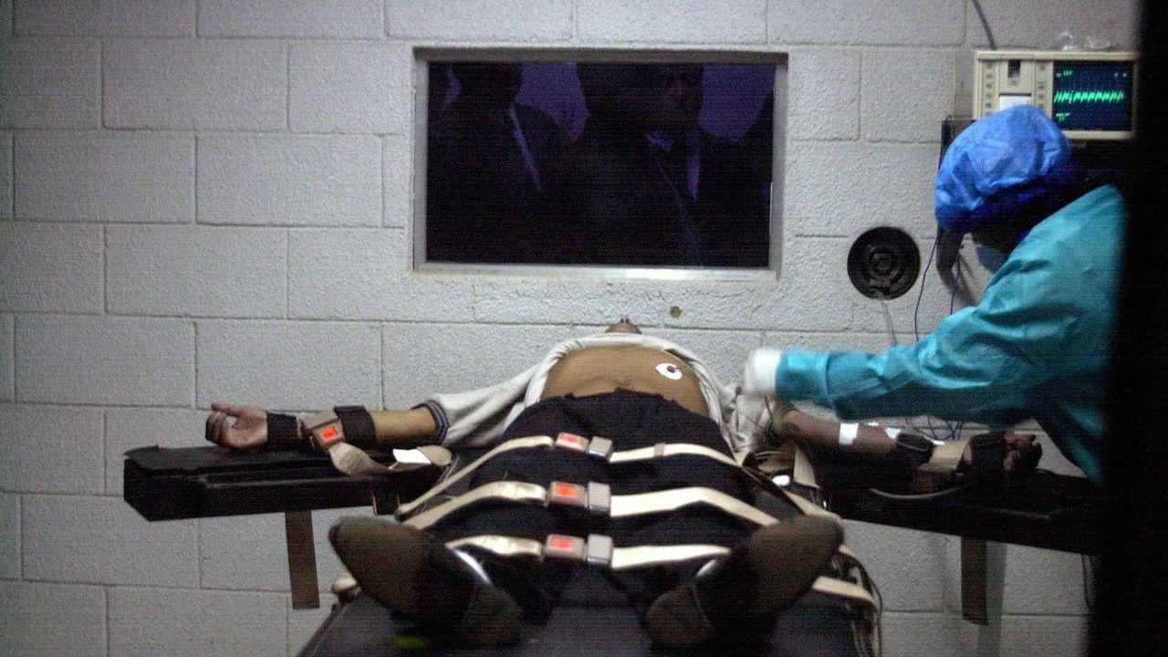 Foto de archivo de un ensayo para una ejecución mediante inyección letal