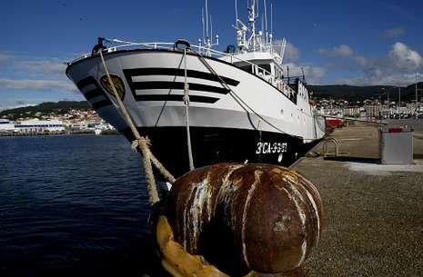 asdf.El «Villa de Marín» es uno de los pesqueros gallegos con licencia para faenar en Marruecos.