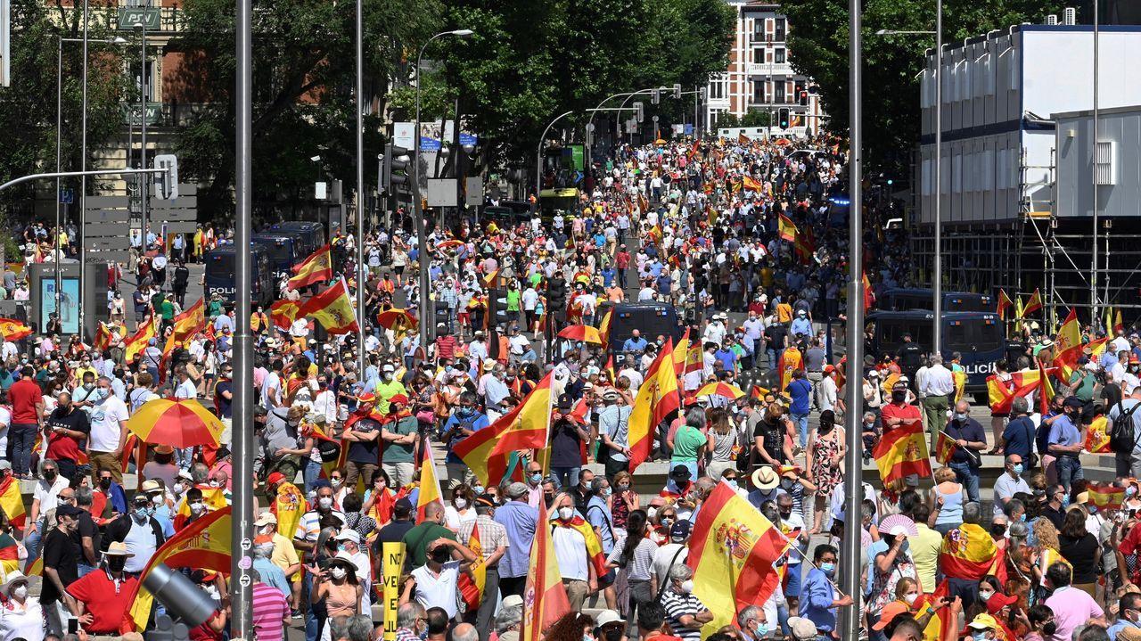 Protesta en la plaza de Colón contra los indultos a los líderes del «procés»