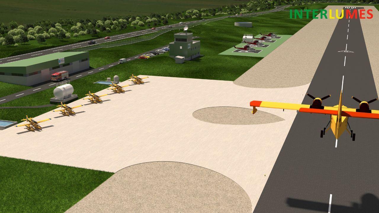 Asi será la futura base aérea contraincendios de Verín
