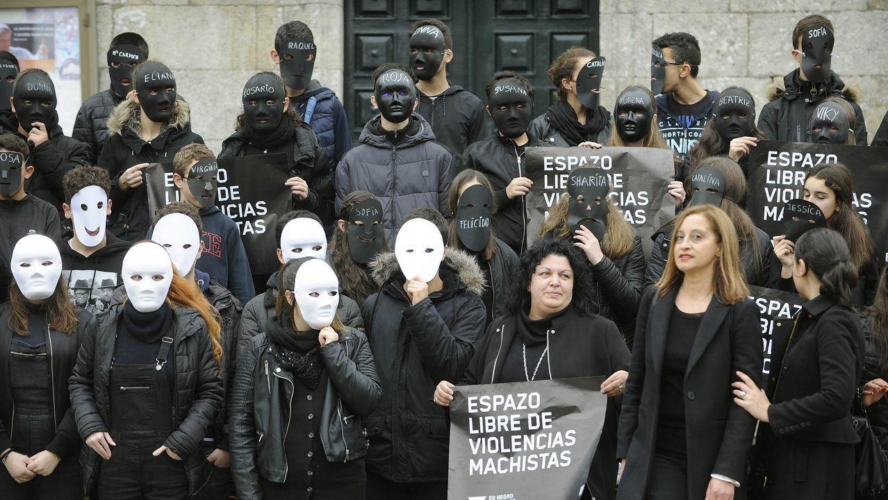 Los estudiantes lalinenses realizaron numerosos actos contra la violencia de género
