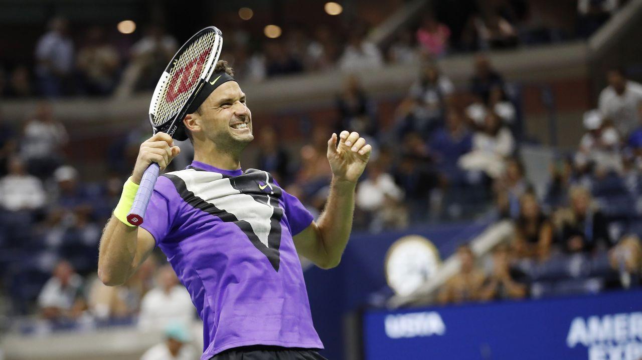 Roger Federer, en el Abierto de Estados Unidos