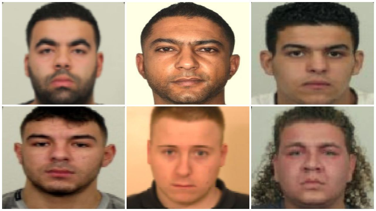 Los principales investigados: Mohamed Maadouri, Faysal El Ouardani, Fouad Hammoudi, Mohamed Yasín, Johnny de Keijzer y Brain Van Den Berg