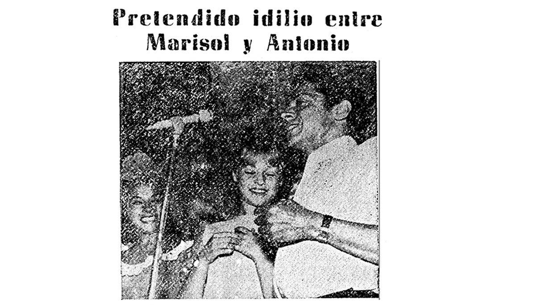 Foto sobre la posible relación de Marisol y Antonio «el bailarín» publicada en La Voz el 15 de septiembre de 1963
