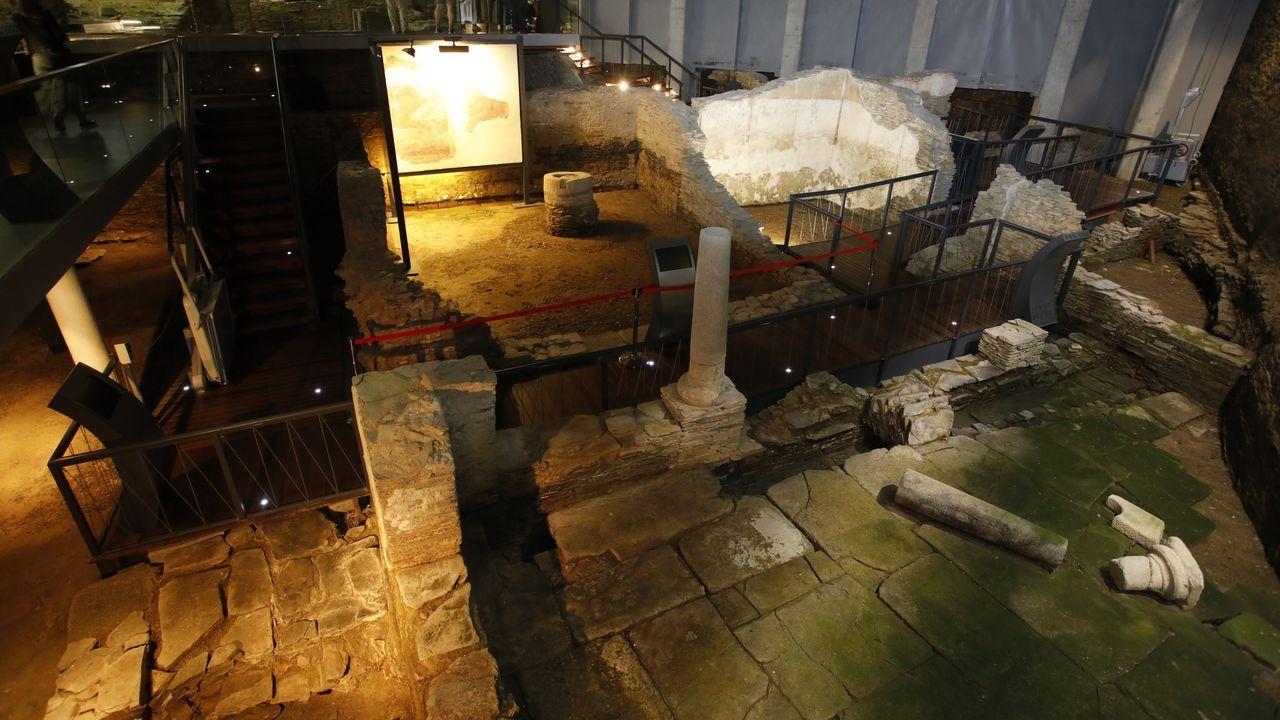 Un sábado de Arde Lucus marcado pola pandemia.La Domus do Mitreo ofrece visistas guiadas gratuitas
