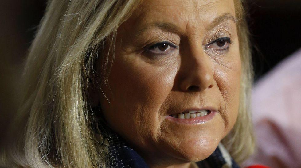 Carmen Rodríguez Maniega, presidenta del PP Avilés. La presidenta del PP de Asturias, Mercedes Fernández
