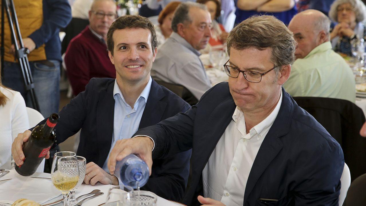 Casado y Feijoo, la semana pasada en Vilagarcía