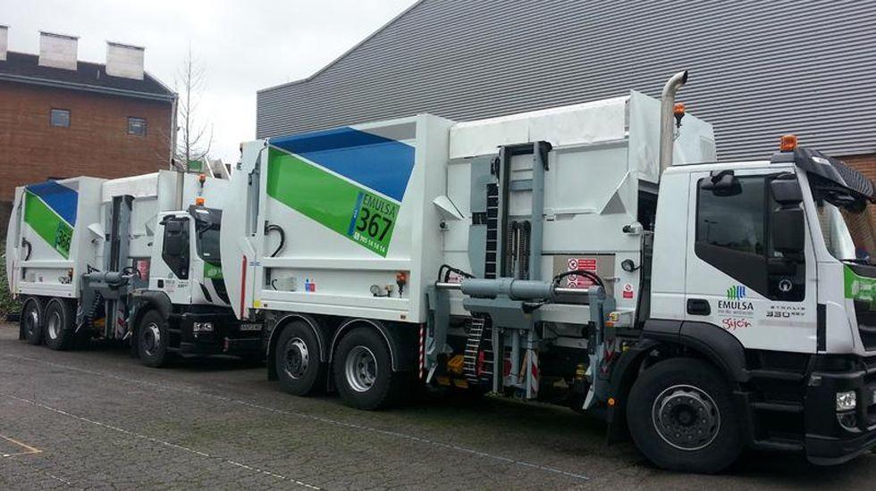Camiones de recogida de residuos de Emulsa