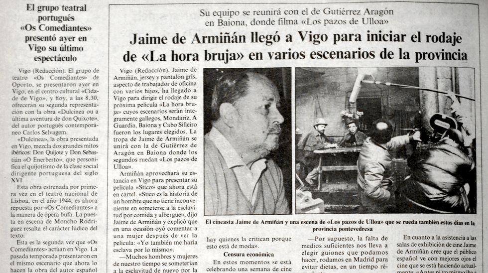 El entusiasta notario de las hierbas de San Xoán.En el 2011 ya se vivió otro episodio de polvo sahariano en Galicia