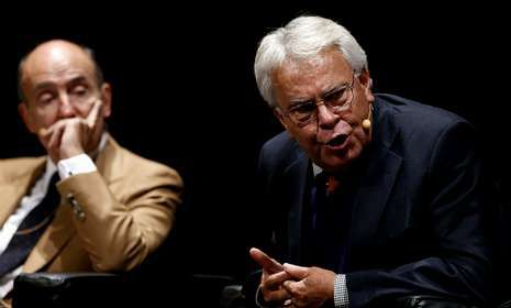 Roca y González, en el debate, el pasado miércoles.