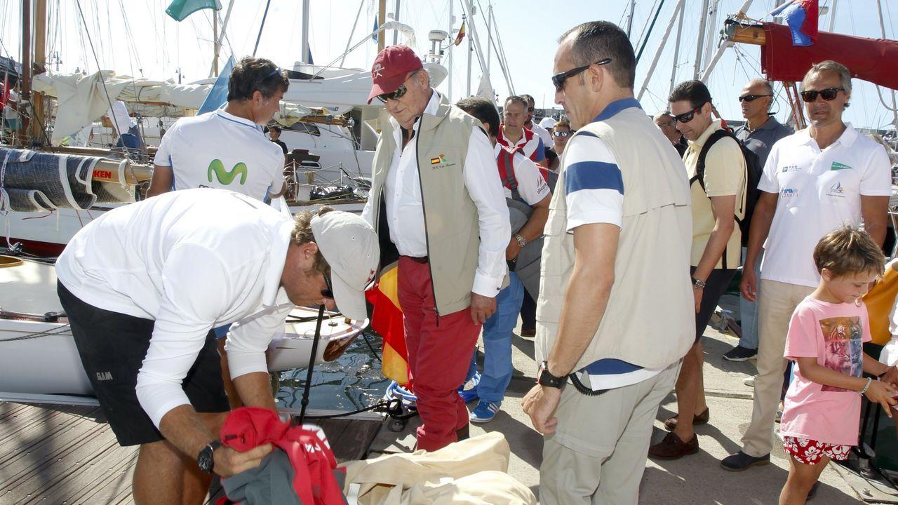 En el puerto deportivo de San Vicente, con motivo de la regata Illas Atlánticas.  Agosto del 2016