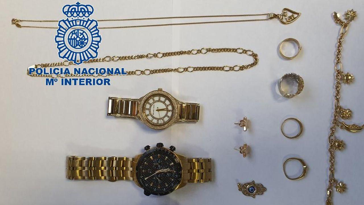 Algunas de las joyas recuperadas