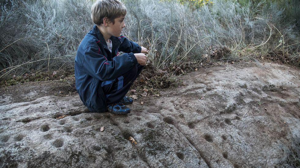Los petroglifos de la Pena do Lagarto fueron descubiertos el pasado otoño por miembros de la asociación cultural O Colado do Vento