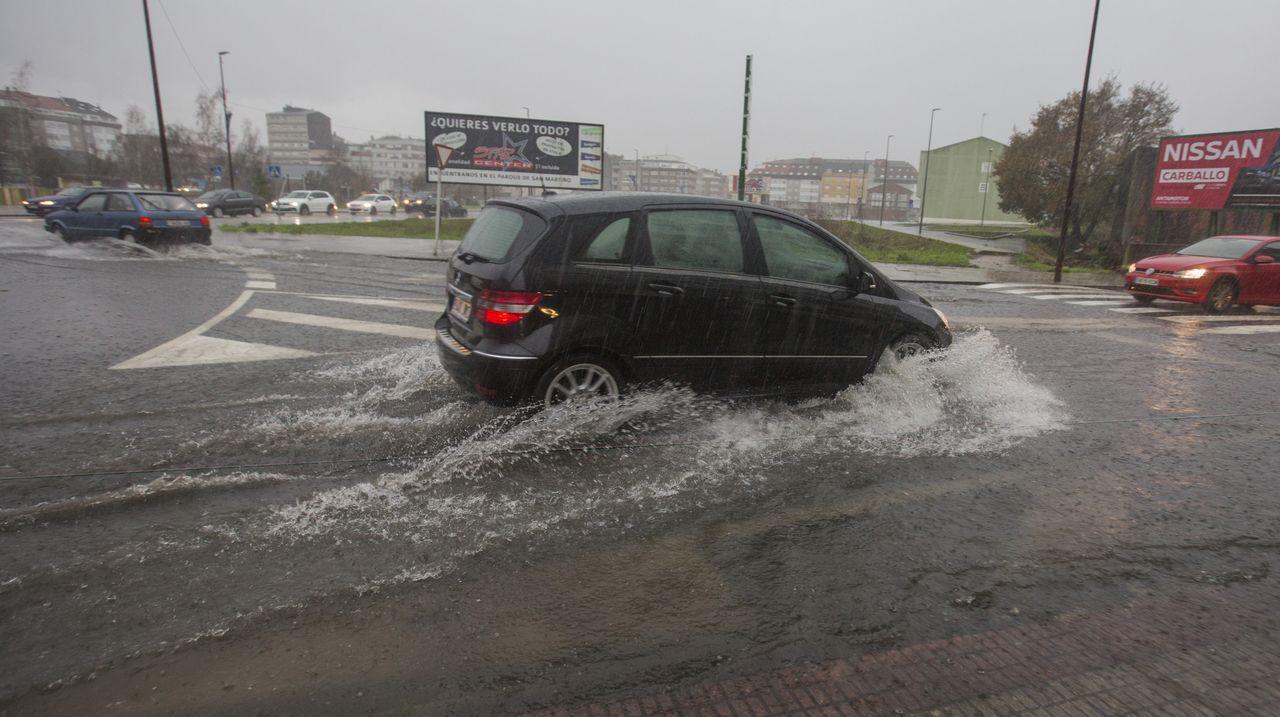 Carballo, también inundado