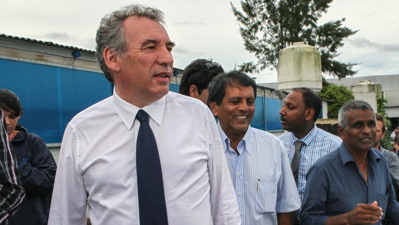 Bayrou, durante una campaña electoral