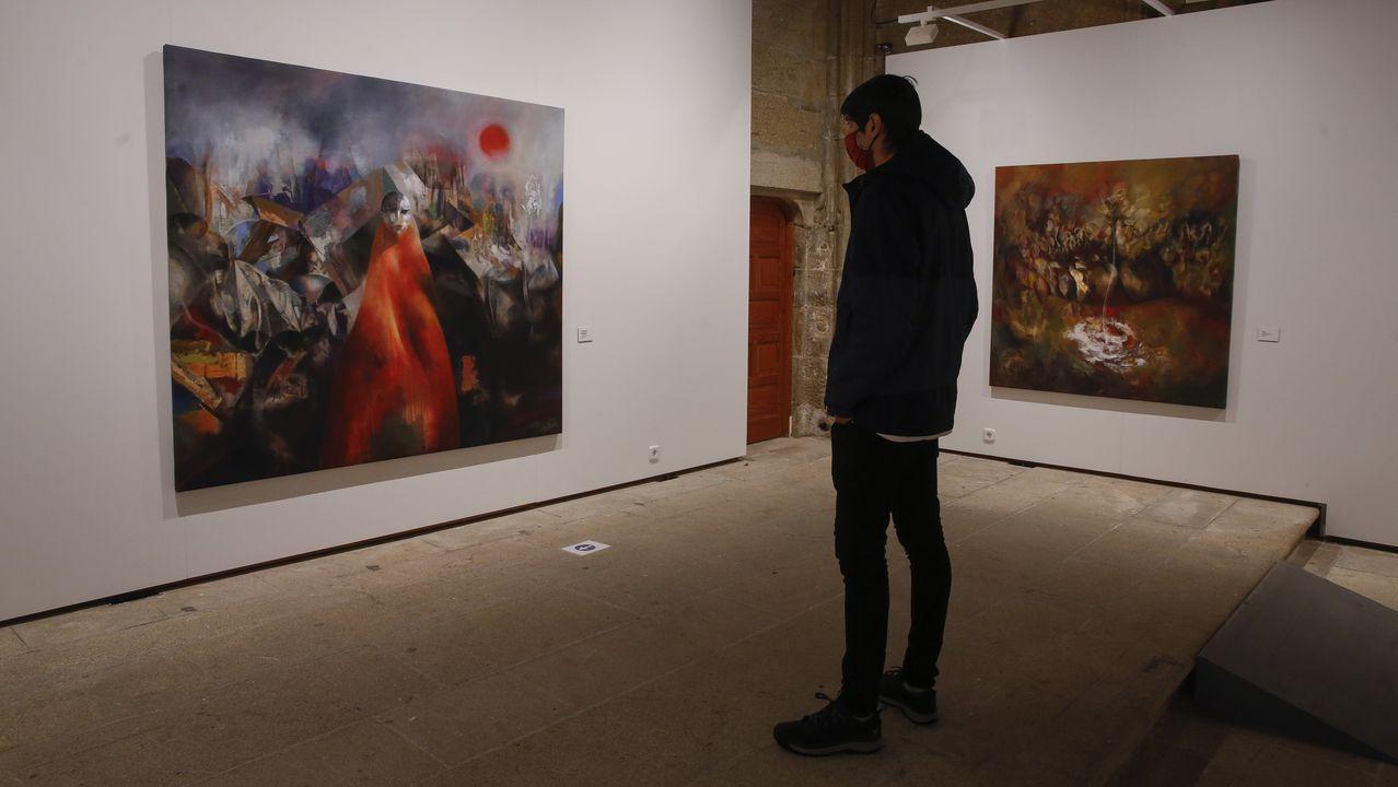 O cadro de «Tremor da consciencia. Fukushima», símbolo da transformación humana