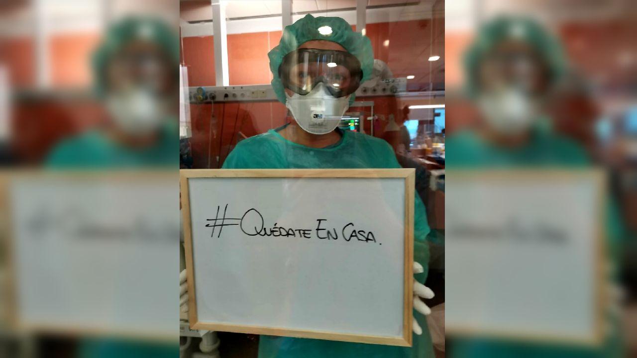 Cristina Enjo, enfermera de uci