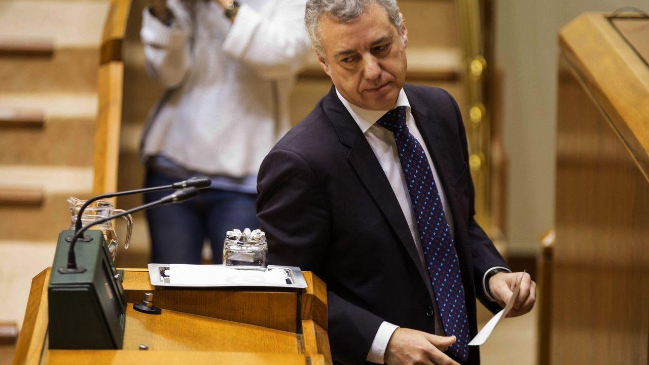 El lehendakari Ïñigo Urkullu, en el Parlamento Vasco