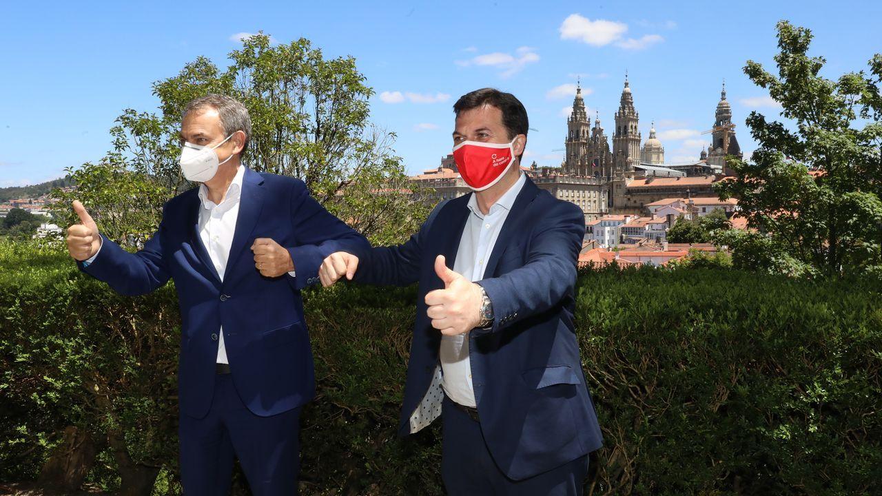 Zapatero y Caballero este viernes en Santiago