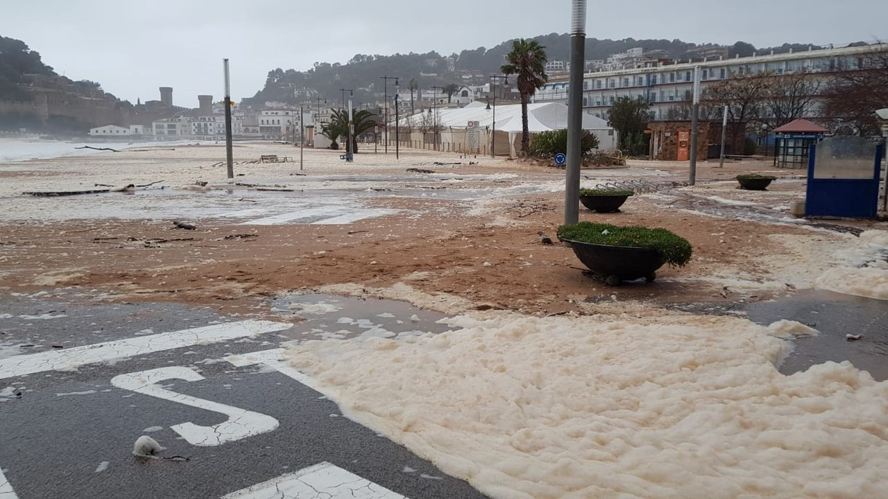 Inundaciones en Tossa de Mar (Gerona) por el temporal Gloria