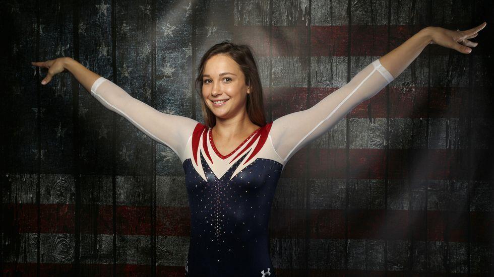 La gimnasta Charlotte Drury, durante el reportaje