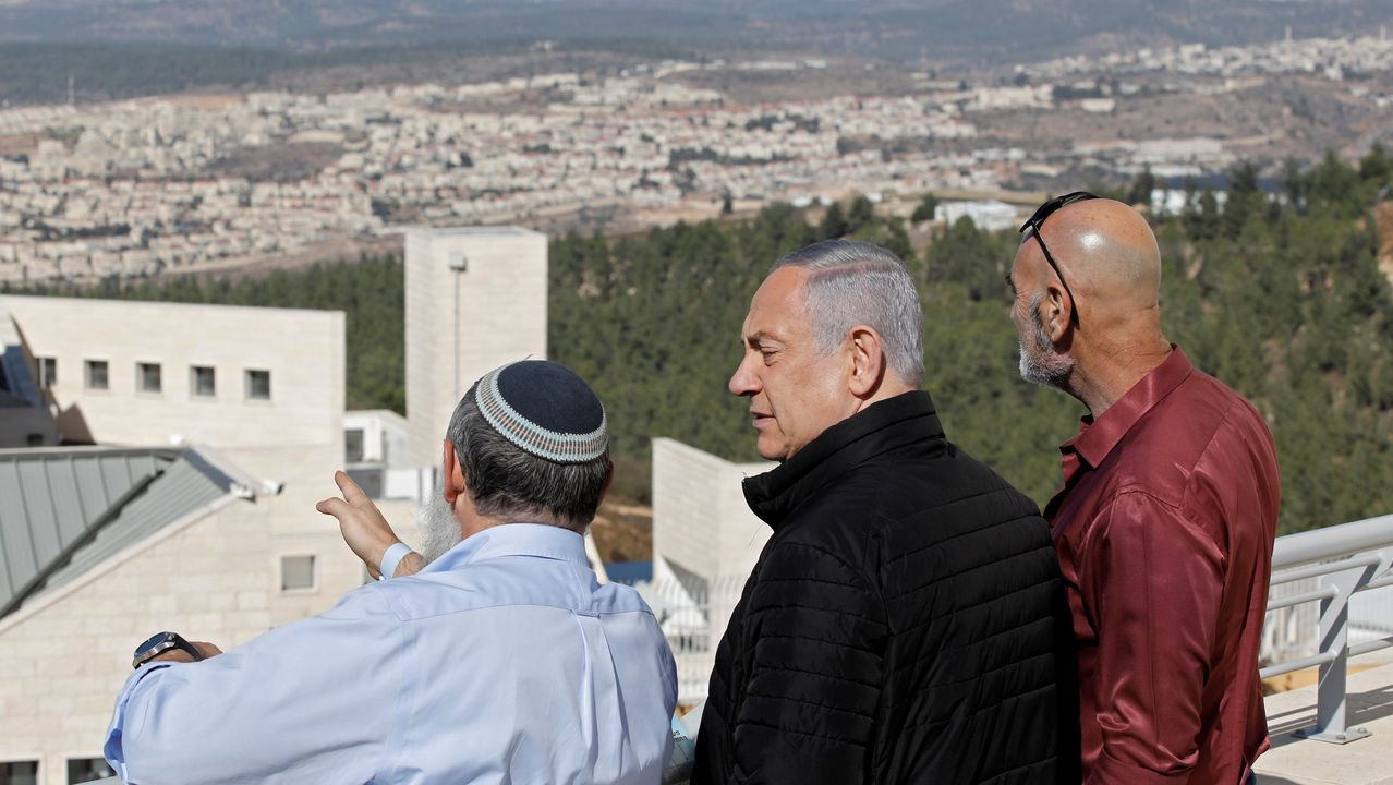 Netanyahu visitó este martes el asentamiento de Alon Shvut