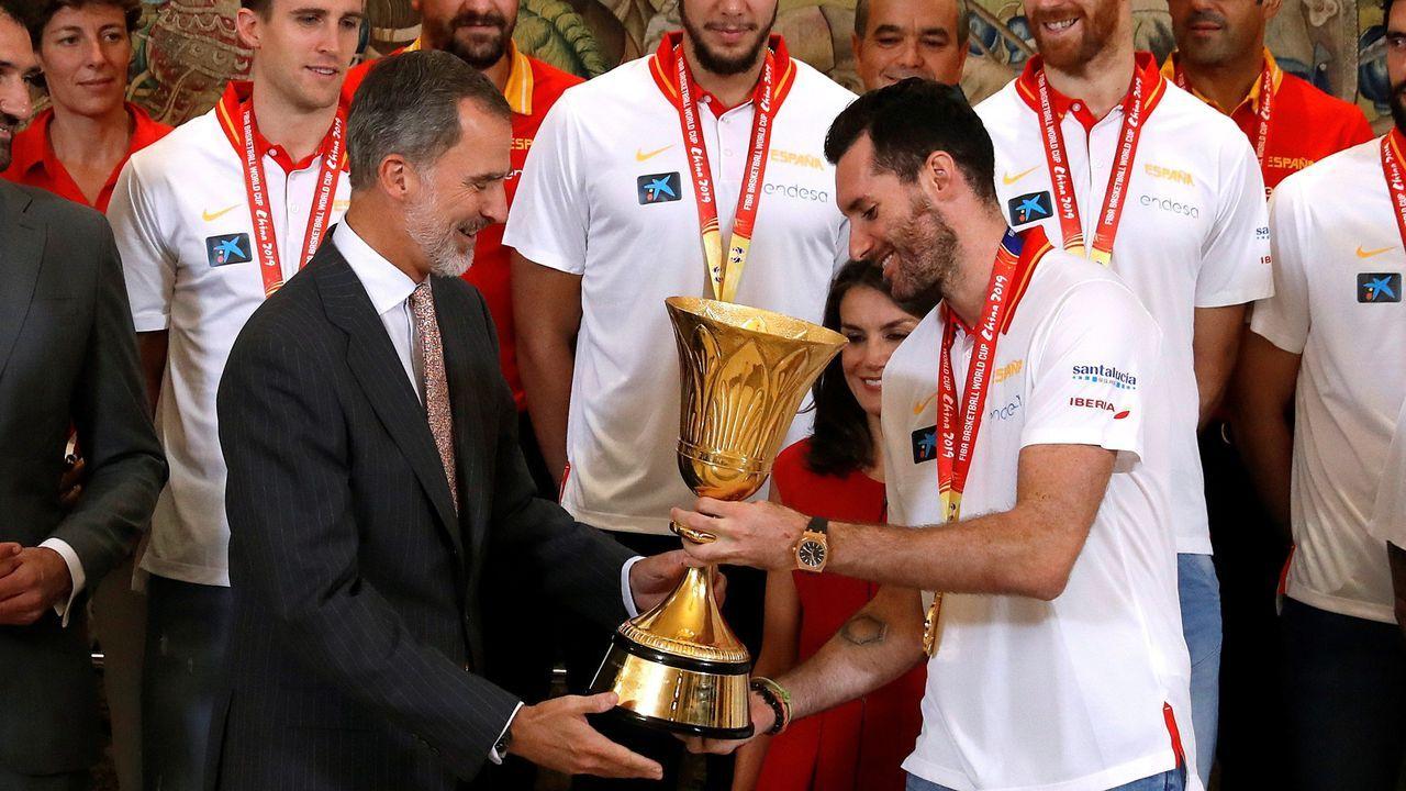 La selección española de baloncesto ya está en España.La princesa Leonor