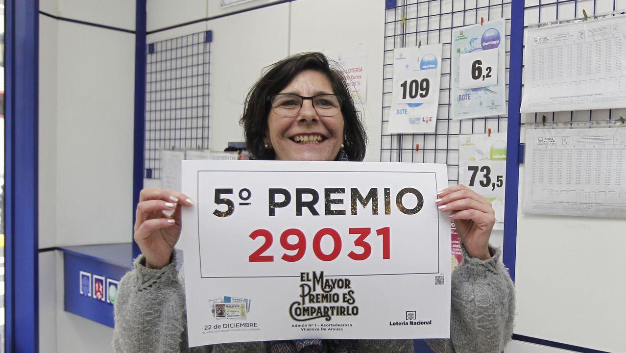 Quinto premio en Vilanova en la administración de Vilanova.El 21.015, el segundo premio. 1.250.000 euros a la serie