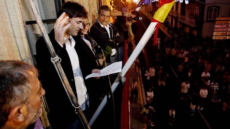 Jorge Mira, durante el pregón