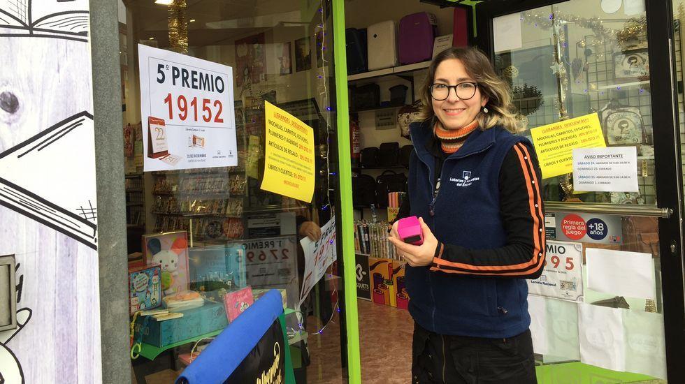 Librería Campus, de Lugo, que repartió por máquina 6.000 euros del quinto premio