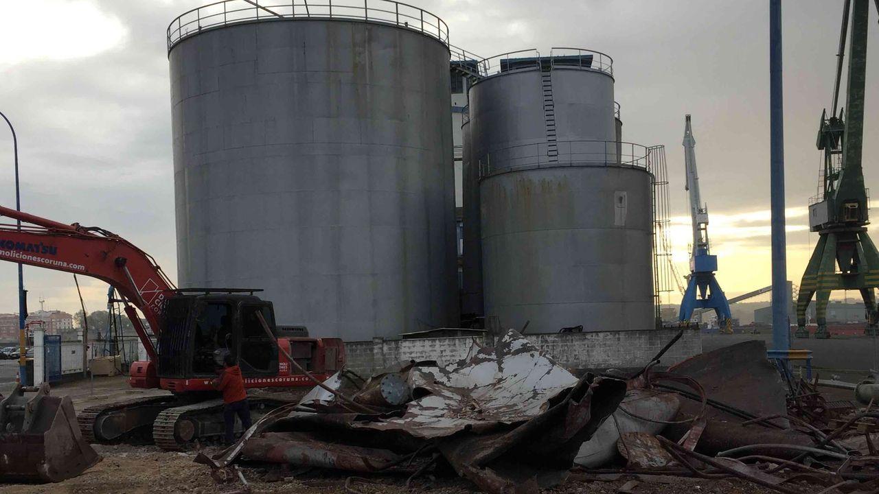 Demolición de los silos en Calvo Sotelo