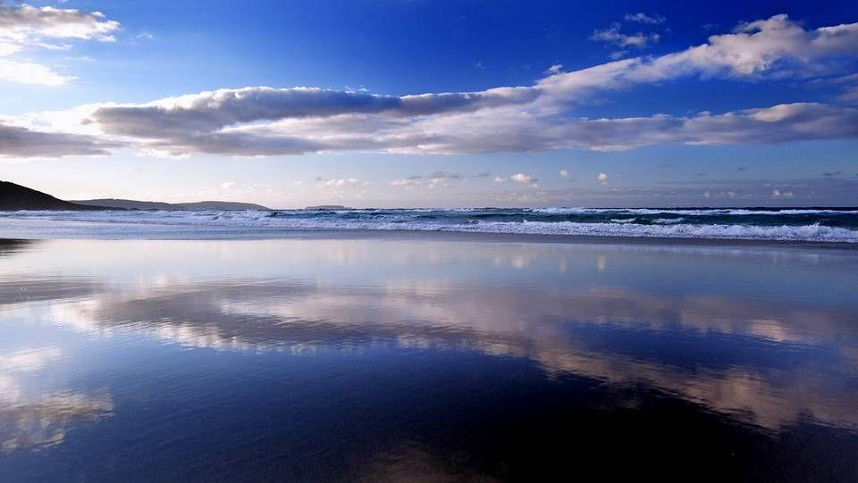 La playa de A Borna.Playa de A Illa da Laxe (Pobra do Caramiñal).