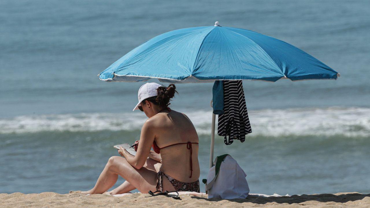 Playa en Loulé, en el sur de Portugal