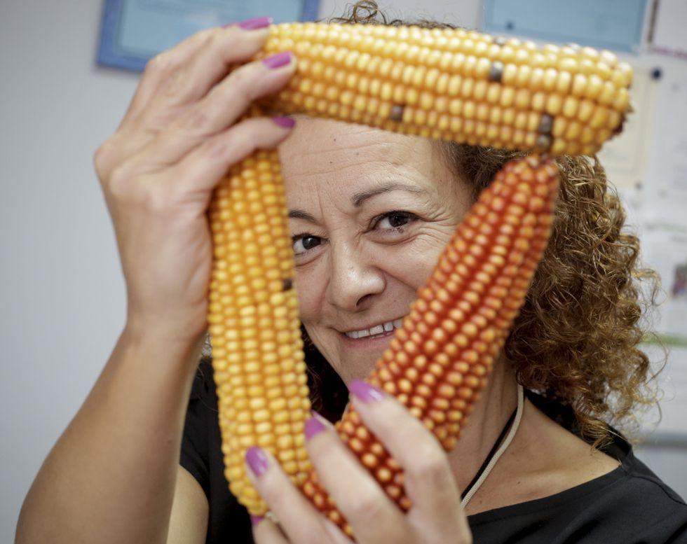 «La mazorca es mi amiga», dice Enes. El maíz es el único cereal que toleran los celíacos.