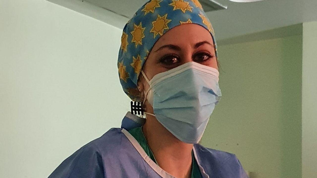 Ana Fernández, enfermera en el hospital de Cabueñes