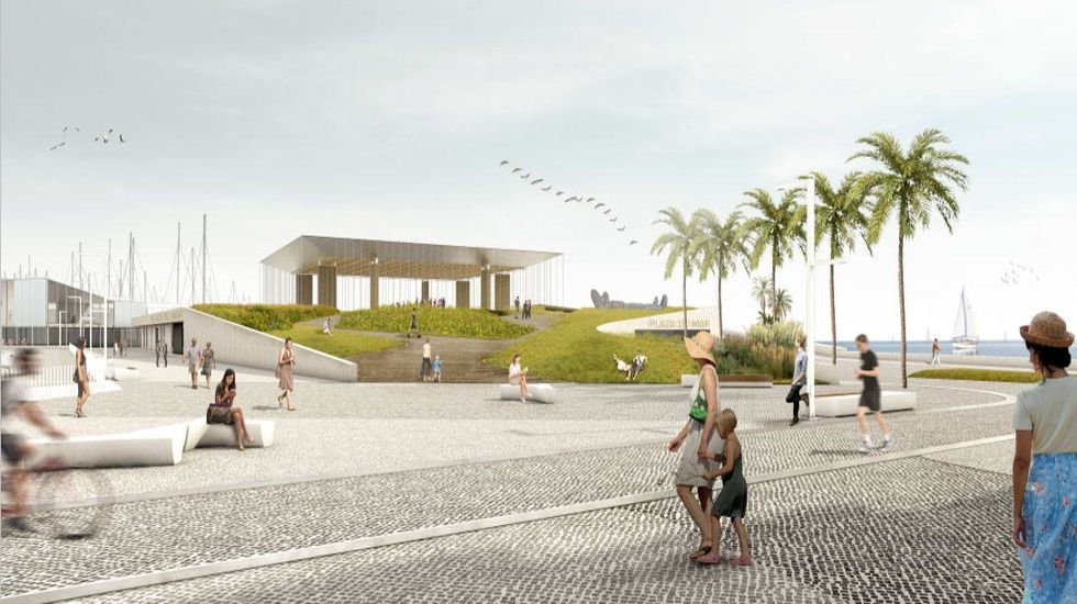 Regeneración de la playa de Carabuxeira, en Sanxenxo.El alcalde de Sanxenxo, Telmo Martín, se reunió  con el vicepresidente económico, Francisco Conde