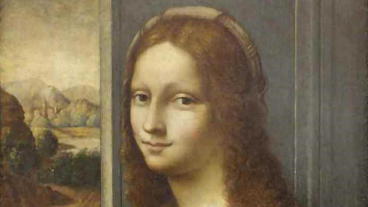 Detalle del lienzo «Ritratto di dama con pelliccia»