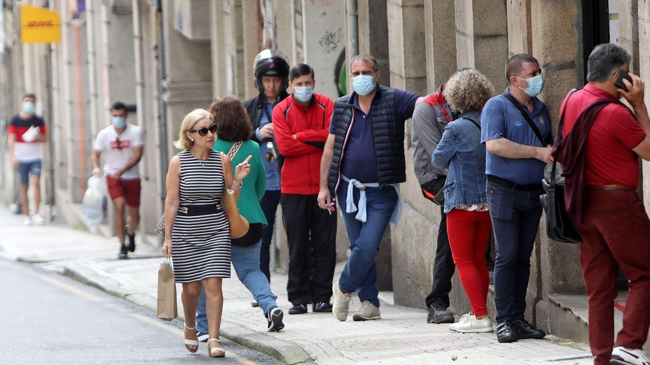 Calles de Vigo donde es difícil mantener la distancia