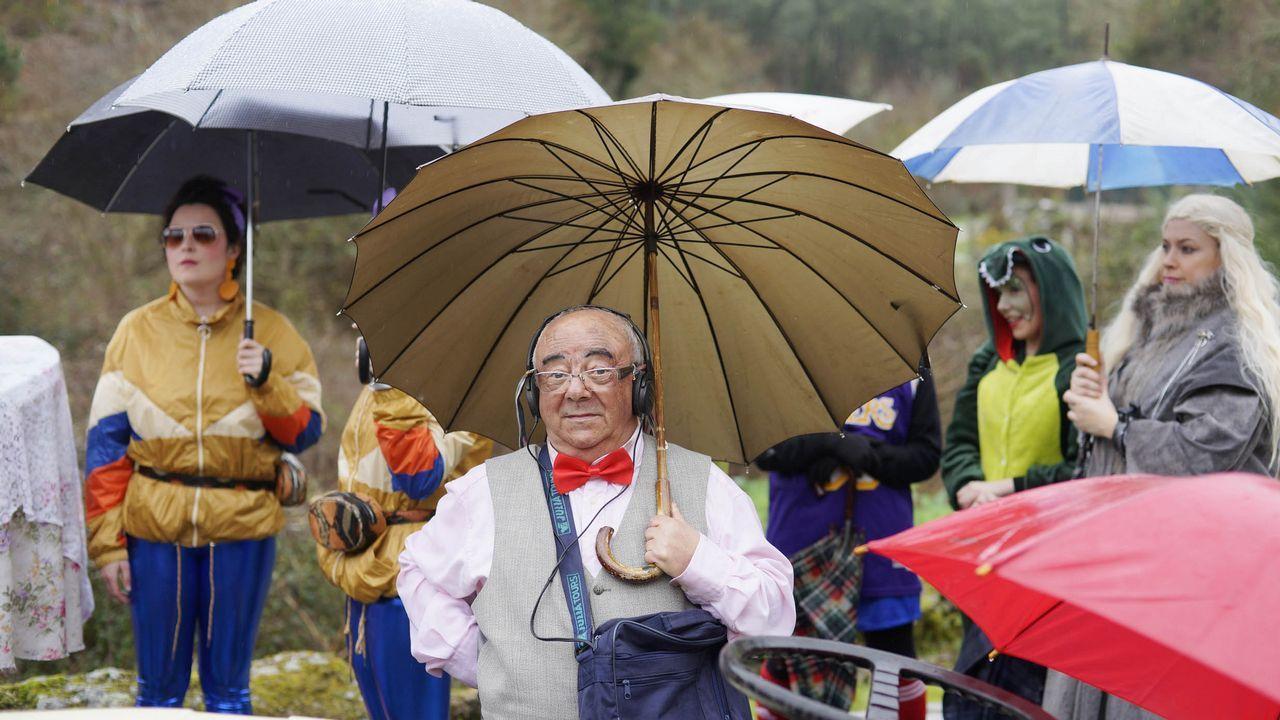 Suspendido el desfile de entroido en Santiago por la lluvia