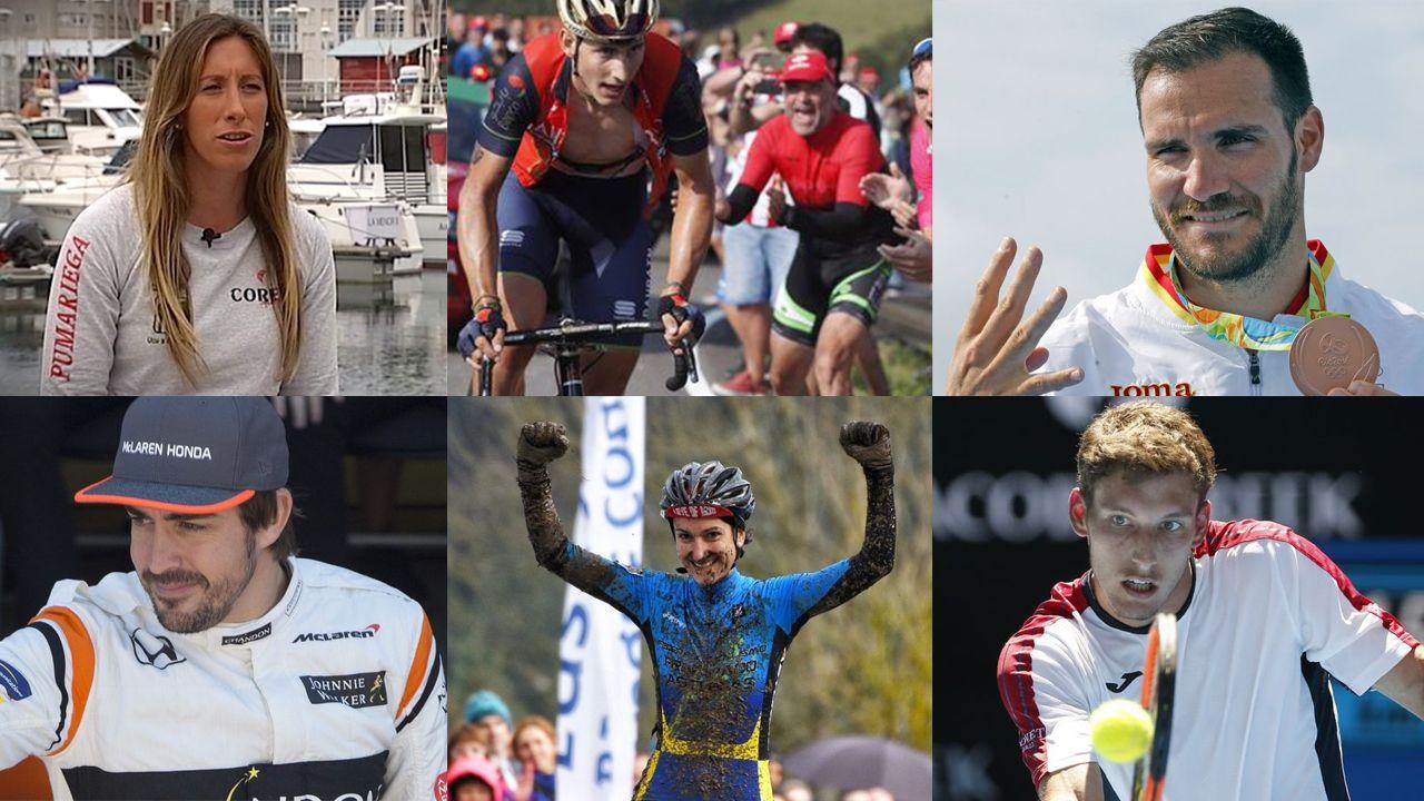 Ángela Pumariega, Iván Cortina, Saúl Craviotto, Fernando Alonso, Aida Nuño y Pablo Carreño