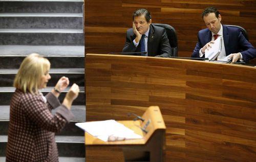 Mercedes Fernández interviene en el Comité Ejecutivo Regional del PP de Asturias.Mercedes Fernández, en un momento de su intervención en el debate del estado de la región
