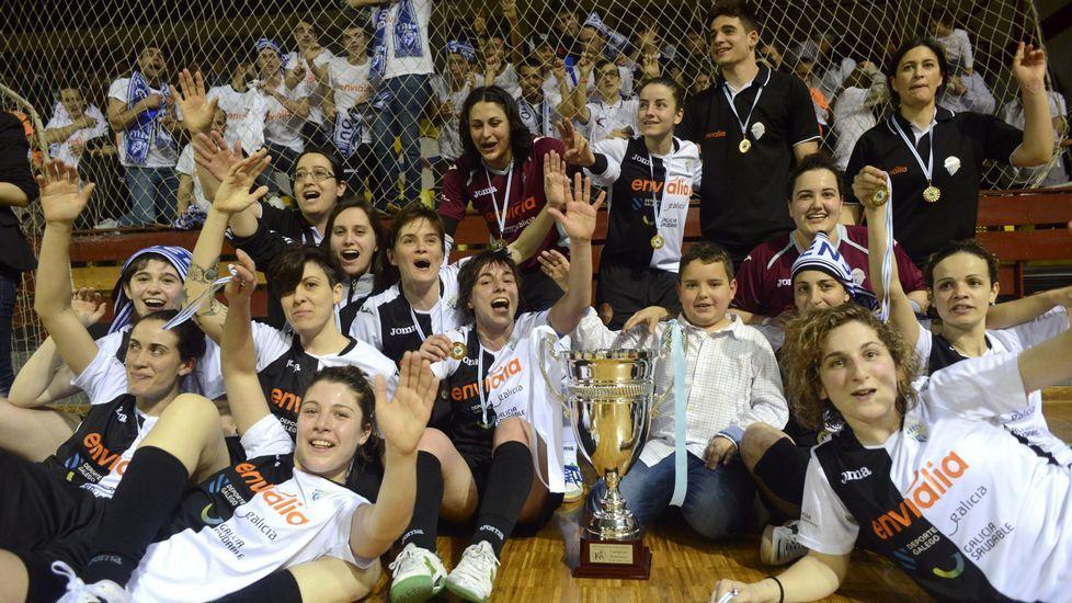MARZO. La Copa Xunta de fútbol sala femenino entre el Cidade das Burgas y el Ourense CF acabó con la victoria de este último