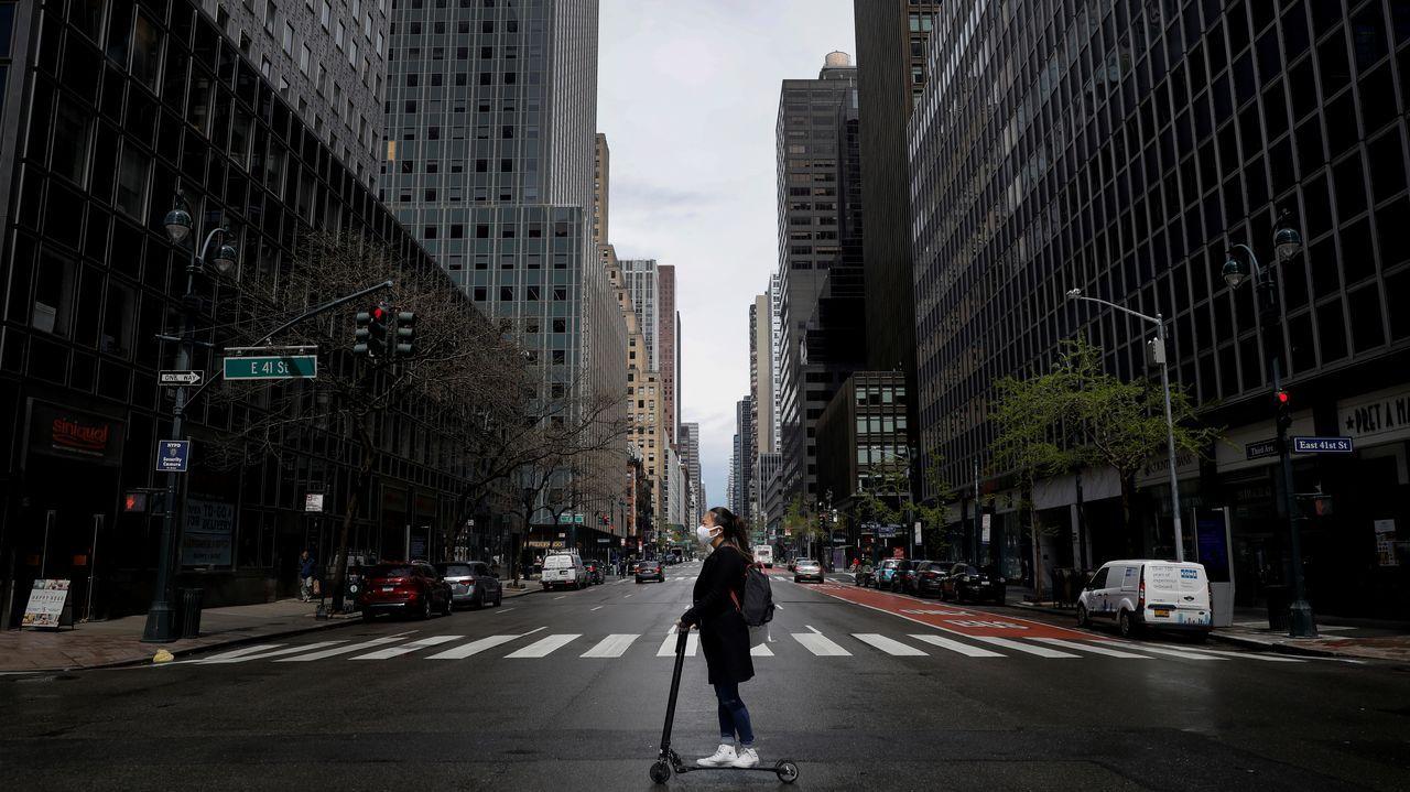 La imagen de Nueva York está lejos del bullicio que presenta habitualmente